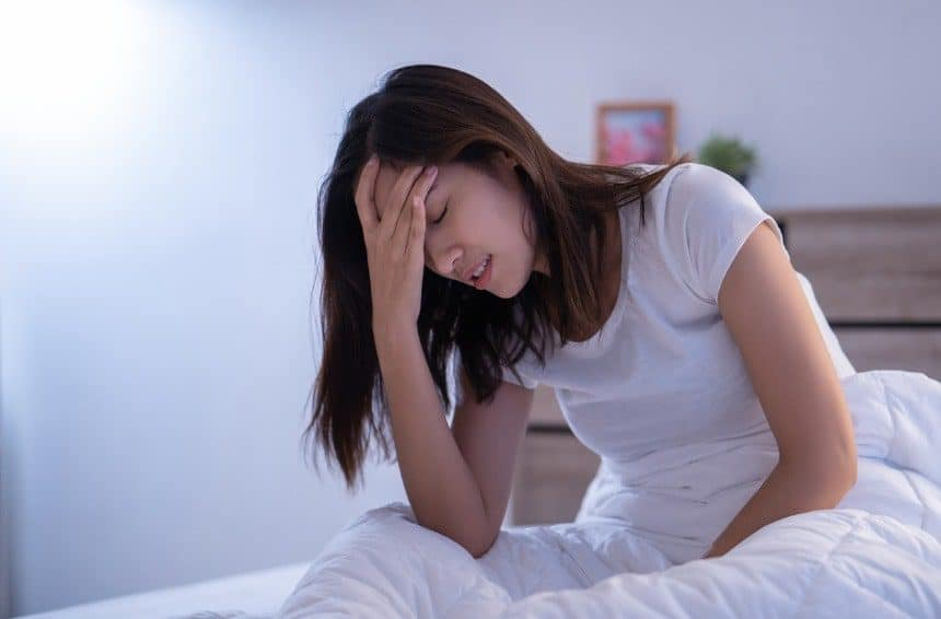 A woman have headaches may be due to melatonin overdose